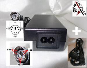 Netzteil 12V 2A 5V 2A Ersatz für Externe Festplatte ICY BOX IB-351U-BL 6Pin #U