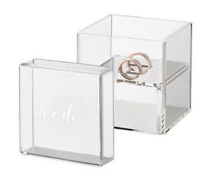 ring pillow alternative ring bearer wedding ring box clear acrylic  with We do