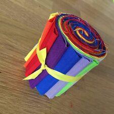 "RAINBOW Mini Jelly Roll Makower Solid Spectrum Fabric Strips 2.5"""