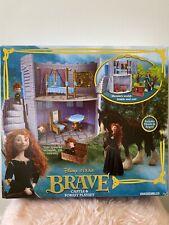 BNIB Rare Discontinued Disney Princess Pixar Brave Merida Castle Forest Playset