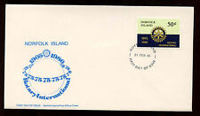 Norfolk Island 1980 Rotary International FDC First Day Cover #C13946