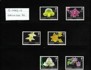 Jersey 2011 Orchids set MNH