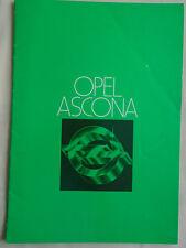 Opel Ascona range brochure Nov 1977