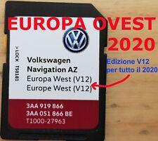 SKODA SEAT VOLKSWAGEN VW Aggiornamento SD EUROPA OVEST 2020 V12 RNS 315 RNS315