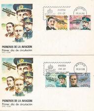 SPD FDC Primer dia España Pioneros de la Aviación 1980 Edifil # 2595/2598