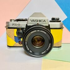 Yashica FX-D Quartz SLR Film Camera MC 35-70mm Yashinon Lens Custom skin! Tested