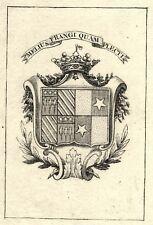 EX-LIBRIS de Jeanne-Marie-Henriette-Victoire de BOMBELLES.