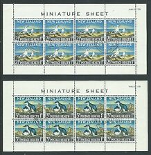NEW ZEALAND 1964 PAIR OF HEALTH MINIATURE SHEETS BIRDS VERY FINE USED