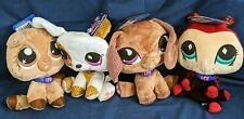 Littlest Pet Shop Plush VIPs Dachshund Kitty Ladybug Puppy lot