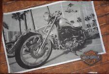 LARGE HARLEY DAVIDSON Fabric Remnant (86cm x 49cm)