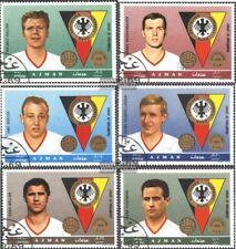 Ajman 362A-367A (kompl.Ausg.) gestempelt 1969 Bekannte deutsche Fußballer