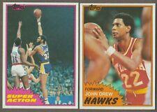 BUY 1, GET 1 FREE - 1981 1982 TOPPS BASKETBALL  YOU PICK #1 - 198 NMMT FREE SHIP