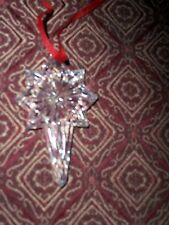 CRYSTAL   SNOW STAR ORNAMENT- NO BOX