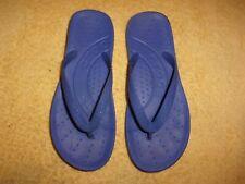 CROCS blue flip flop Sandals WOMEN'S SIZE 7, MEN'S SIZE 5