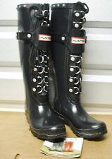 Hunter Limited Lace & Buckle Festival Black Rubber Boots US5 EU36 Gummistiefel