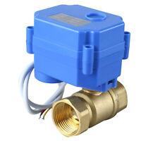 "Durable brass 3/4"" Brass Electrical Ball Valve, Motorized Ball Valve,  9-24V"