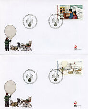 More details for greenland military stamps 2019 fdc greenland during wwii ww2 part iv dogs 2v set