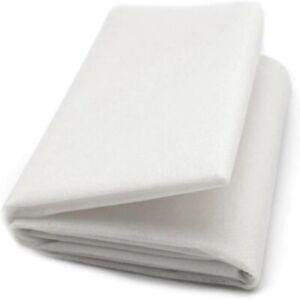 "White Interfacing Buckram Fabric 40"" LightWeight NonWoven Fusible Iron On Metre"