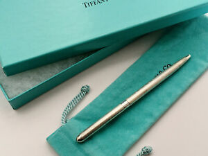 TIFFANY & CO. Ballpoint Pen Sterling Silver 925 Slim Design Germany NEW IN BOX