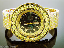 Mens 54mm Techno Com Kc yellow Simulated Diamond Watch yellow case Black face