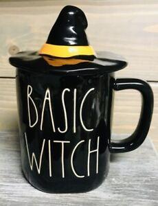 Rae Dunn Halloween BASIC WITCH Mug W/ Topper 2020 Release NWOT HTF 🧹🧹
