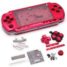 Easyfindus PSP 3000 Slim Full Housing Shell Case repair replacement metallic red