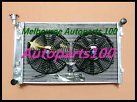 52MM ALUMINUM RADIATOR and fan for HOLDEN COMMODORE VY 6CYL V6 2003 2002 2004 MT