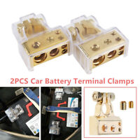1Pair of 0/4/8 Awg Gauge Car Positive Negative Battery Terminal Clamp Connector