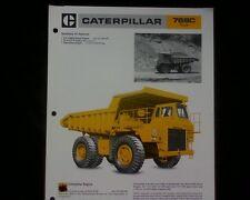 Caterpillar 769C Dump Truck SALES BROCHURE
