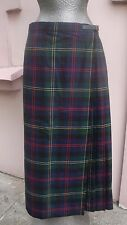 Vintage Charter Club Scotland Scottish Plaid Tartan Wool size 12 Kilt Wrap NWOT