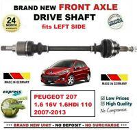 Pour Peugeot 207 1.6 16V 1.6HDi 110 2007-2013 1x Neuf Essieu avant Gauche Arbre