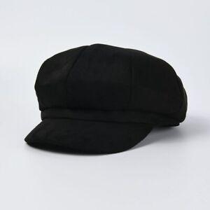 Suede Hats for Women Octagonal Cap Caramel Newsboy Autumn Vintage Female Beret