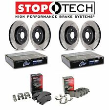 Ford F150 Raptor SVT Front & Rear Slotted Brake Discs Metallic Pads StopTech KIT