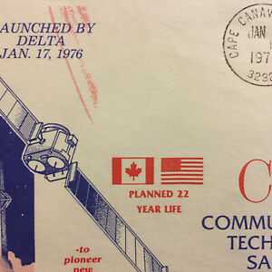 CANADA 12  YR LIFE SATELLITE CTS SPACE COVER LAUNCHED JAN 17,1976 CAPE CANAVERAL