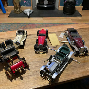 5 x franklin mint old vintage cars need repairs