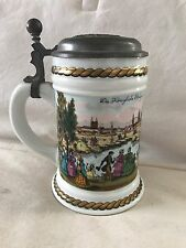 Vintage Lidded Beer Stein With Lid Royal Head Munich Made in Germany Marked ML