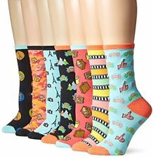 New Sock Lab Women's Travel Adventures Crew Gift Box 7-Pack, Multi-Color, 9-11