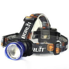 BORUIT 5000LM XM-L T6 LED AA Zoomable Headlamp Outdoor Headlight Head Torch Lamp