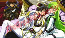 Code Geass C.C., Lelouch, and Suzaku White Suits Custom Playmat #364390
