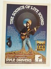 vintage magazine advert 1982 PYLE DRIVERS speakers