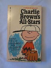 Vtg Charlie Brown's All-Stars by Schulz, RARE top bound 1966 PB Color
