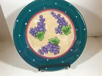 "ESSEX Collection Bois d'Arc Tutti Fruitti 8-1/4"" Salad Bread Plate Grape Pattern"