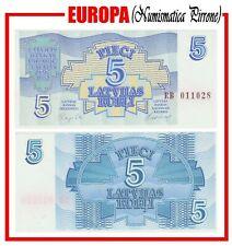 LETTONIA: 5 Rubli 1992 (Kp 37) FDS UNC