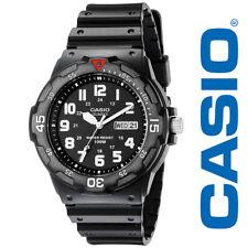 NEW Casio MRW200H-1BVCF Mens Black Watch Day Date Luminious Quartz