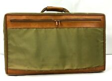 "Vintage Hartmann Suitcase Bag Nylon with Leather Trim 20"" x 12"" x 7.5"""