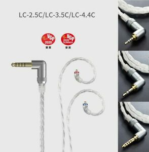LC-2.5C/3.5C/4.4C  Hand-Wove Balance Headphone MMCX Cable for Shure/JVC/FiiO