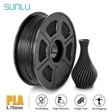 SUNLU PLA 3D Printer Filament 1.75mm 1KG Spool Black PLA Printing Consumables