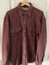 Mens LL Bean Overshirt - Shirt Jacket / Large / Country/ Lumberjack/ Made In Usa