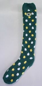 Green Bay Packers Women's Sleep Socks Medium Size 6 to 11 Polka Dot