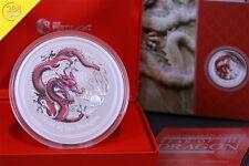Australien Lunar II Drache Dragon 1kg Silber 2012 PP Farbe Colour